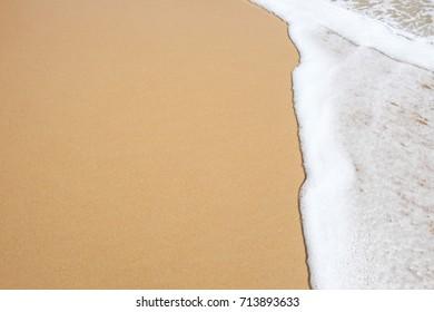 Wave on beach.