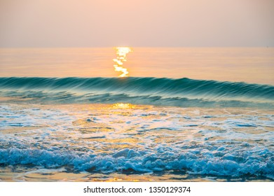 Wave on the beach in morning time