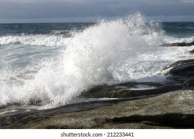 Wave on shore