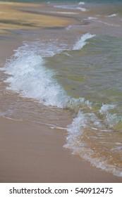 Wave Over Beach in Huatulco Mexico
