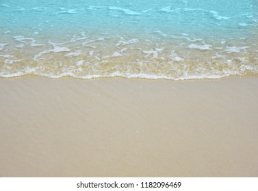 Wave and sand beach for space text or background