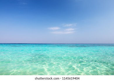 Wave of sea on sand beach in Similan island, Thailand. Holiday summer background.
