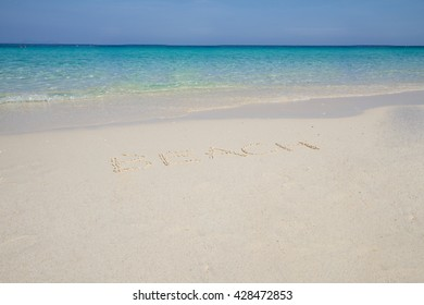 Wave of the sea on the sand beach, Letters Beach