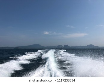 Wave Sea Water by speed boat