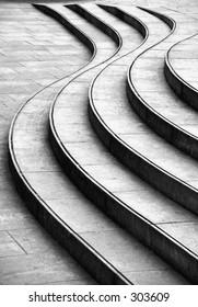 wave shaped steps