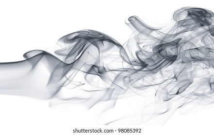 Wave and smoke background
