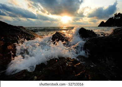 Wave and sun