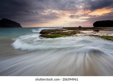 Wave & Sunset