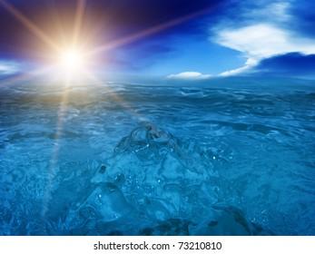 Wave  tsunami   sea  ocean
