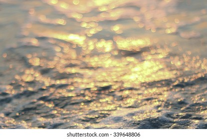 wave of water in river sea ocean background blurred