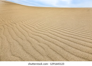 Wave-like pattern in a sand dune