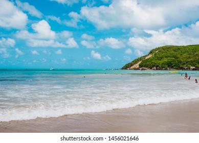 Waves of the beach of Ponta Negra - Natal RN Brazil