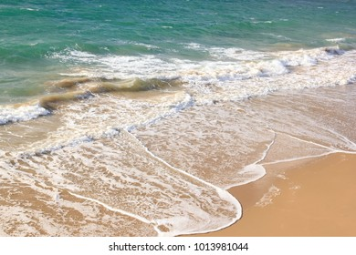 Waves. Beach to St Malo (Brittany France)