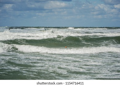 waves in beach at summer