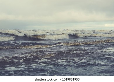 Waves in a cold sea