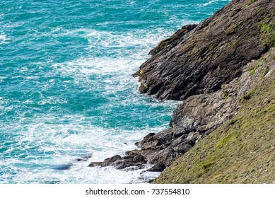 Waves crashing against the landscape of the north Cornish coast have given the landscape a distinct rugged look.