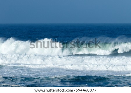 Waves Crashing Beach California Inverness Point Stock Photo (Edit