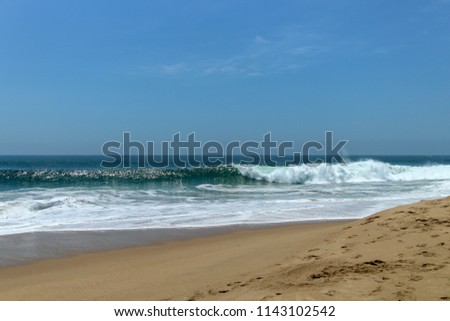 Waves crashing on the
