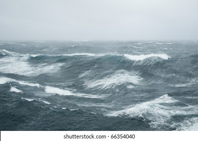 waves during a storm in the Atlantic Ocean