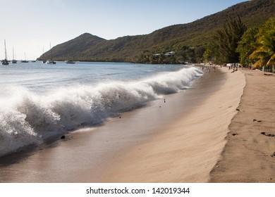 Waves of Grande Anse d'Arlet, Martinique, France