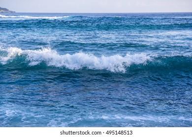 The waves of Lembongan?Bali, Indonesia.