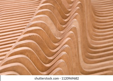 Waves made of wooden material.