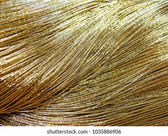 Waves of metal threads (Japanese threads) in gold color