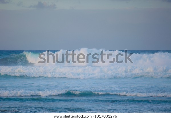 Waves Ocean Raging Ocean Gran Canaria Stock Photo Edit Now