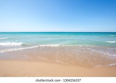 Waves on the beach along Lake Michigan