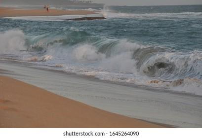 Waves on beach at Sri Lanka