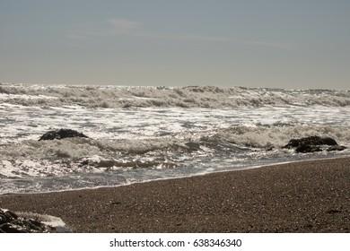 waves on coastline
