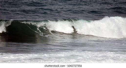 waves on sea coast