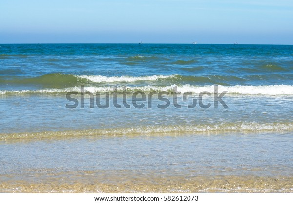 Waves in the sea Landscape. Expanse of water.