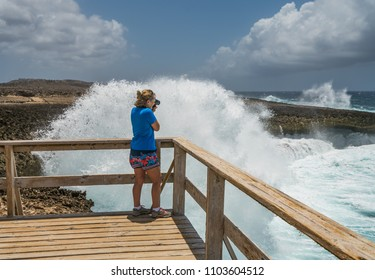 waves at Shete Boka   National park Views around the small Caribbean island of Curacao