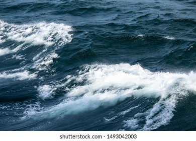 Waves of stormy cold sea on the south of Norway