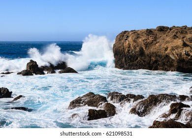 Waves and Surf near Monterey California.