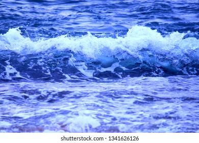 Waves wash ashore at Steps Beach of Puerto Rico