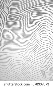 waves of white paper layers