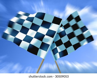 Waving a checkered flag