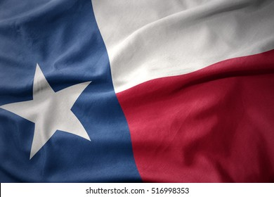 waving colorful national flag of texas state.