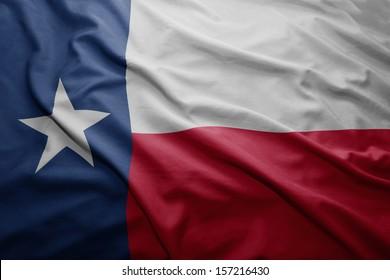 Waving colorful Texas flag