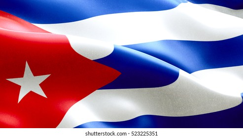 waving fabric texture of the flag of cuba, real texture color red blue and white of cuban flag, communist dictatorship concept