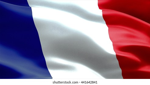waving fabric texture of the flag of france