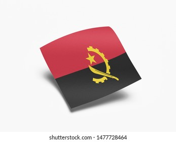 Waving Flag of Angola, Flag of Angola in White Background.