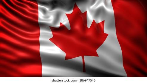 waving flag Canada
