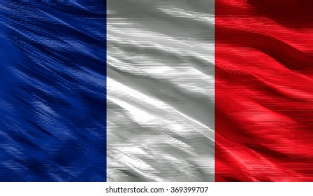 Waving flag of France