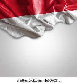 Waving flag of Indonesia, Asia