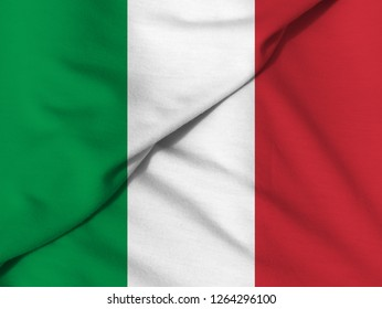 Waving flag: Italian Republic.