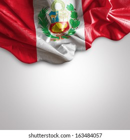 Waving flag of Peru, South America