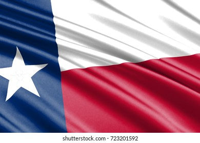 waving flag of Texas is a state of USA
